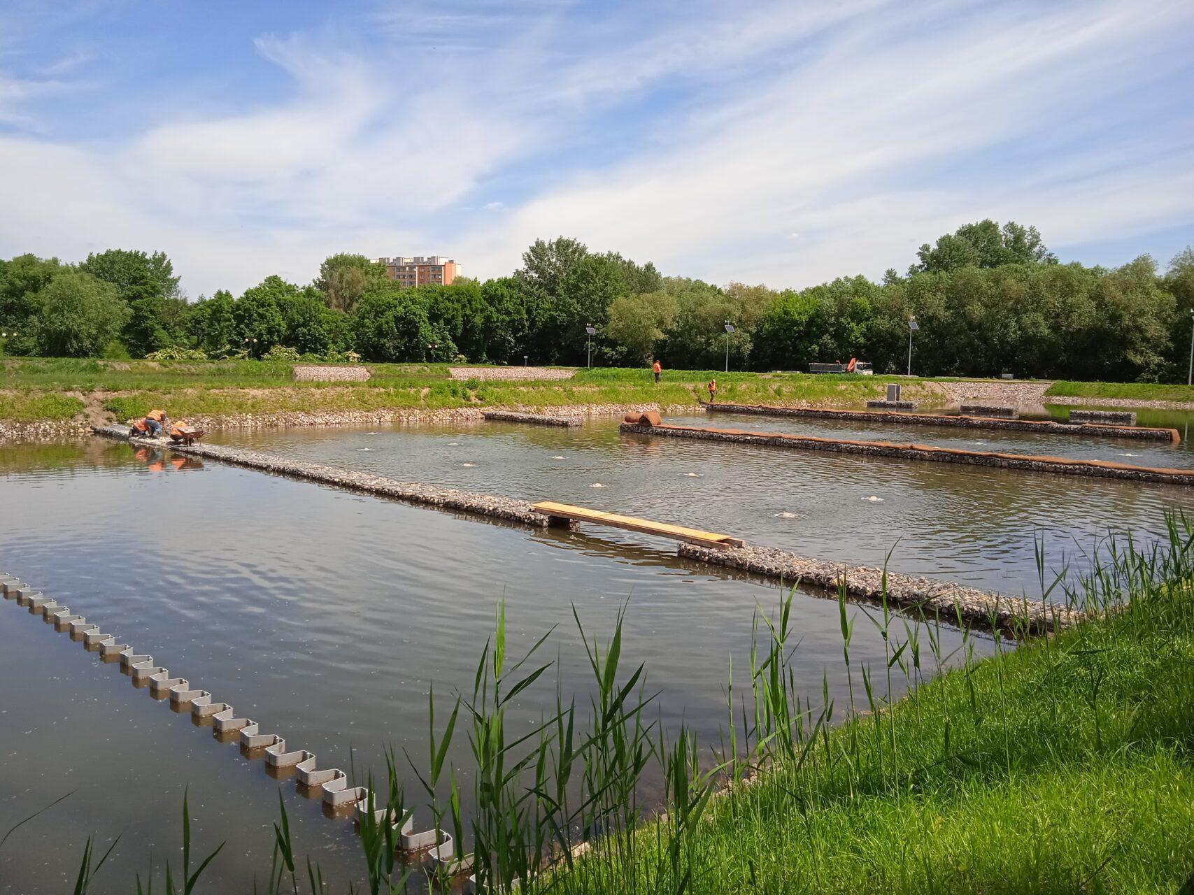 zalew w Borkach - hydrotechnika